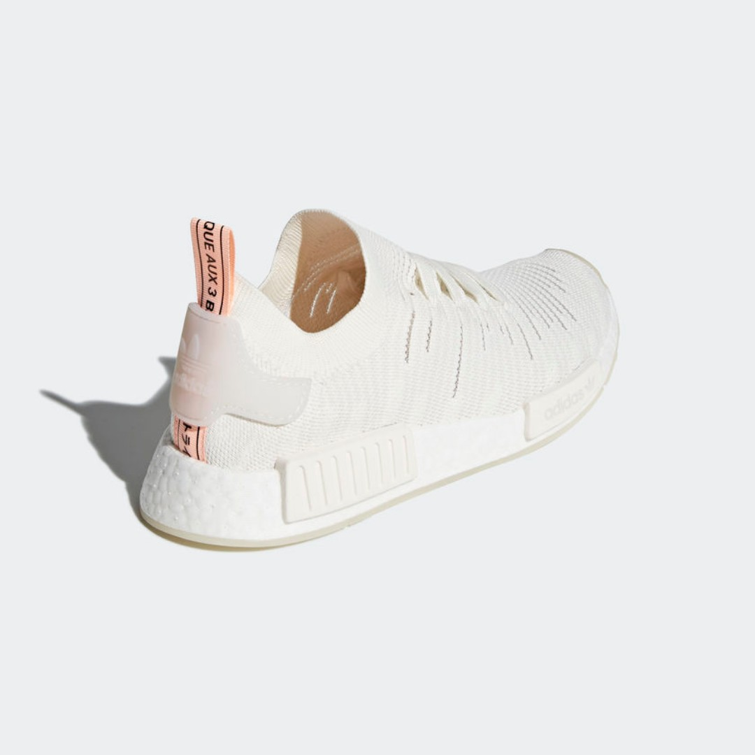 new concept 01cc8 fe509  LIMITED TIME OFFER  ADIDAS NMD R1 STLT PRIMEKNIT WOMEN S - CLOUD WHITE CLOUD  WHITE CLEAR ORANGE, Women s Fashion, Shoes, Sneakers on Carousell