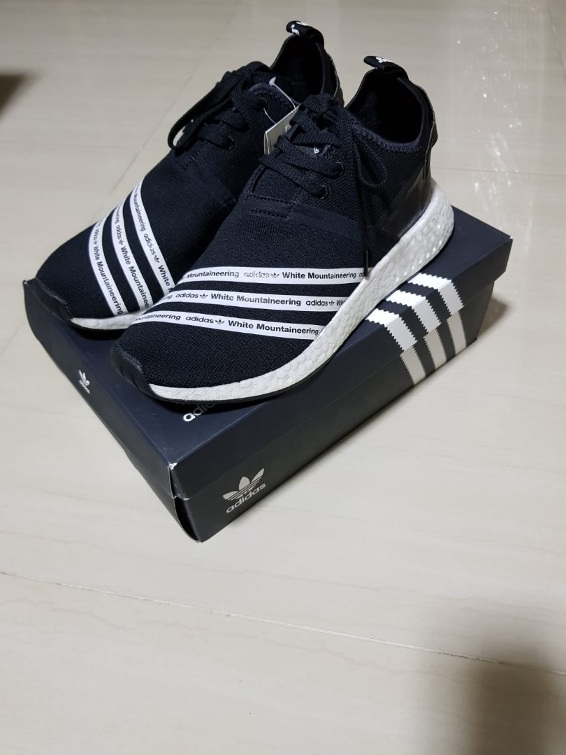 df70a5a70d06d Adidas NMD R2 White Mountaineering Black US10.5