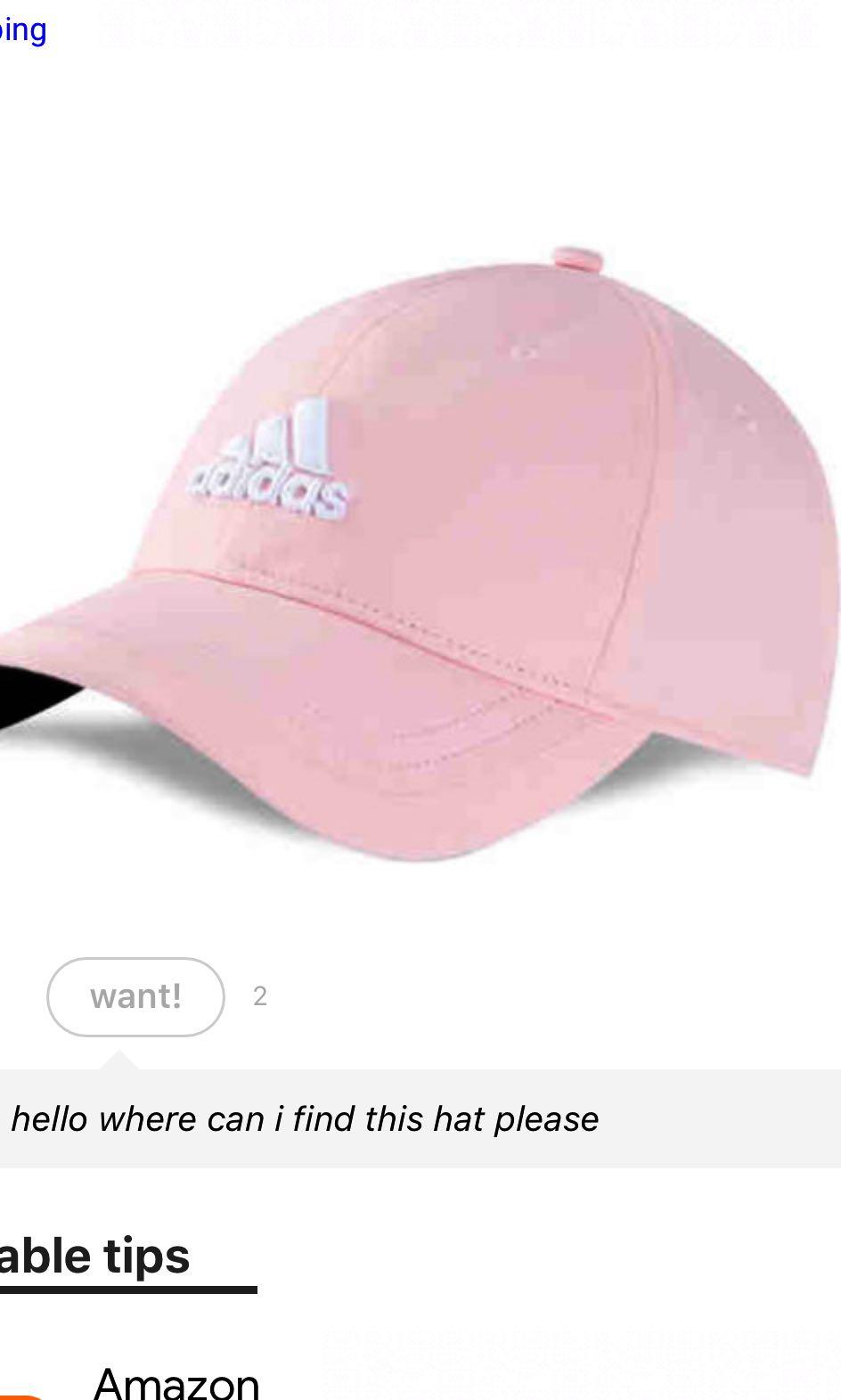 69325d6c4bd32 adidas pink hat