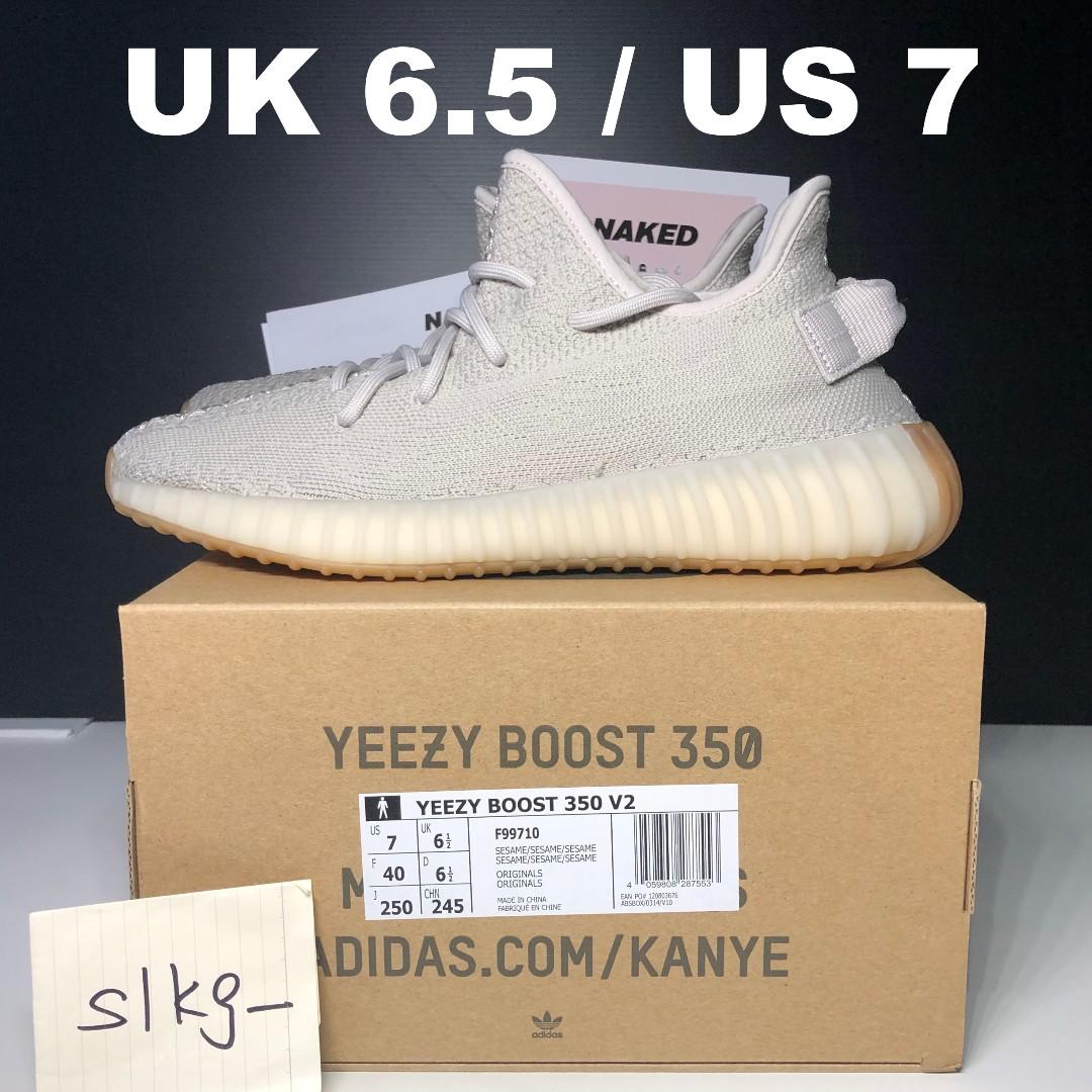 edae5780b adidas Yeezy Boost 350 V2 Sesame - UK 6.5   US 7