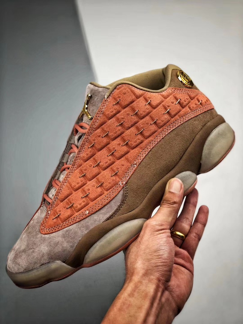 "ae243fa369b3 AJ13兵马俑 CLOT x Air Jordan 13 Low ""Terracotta"""