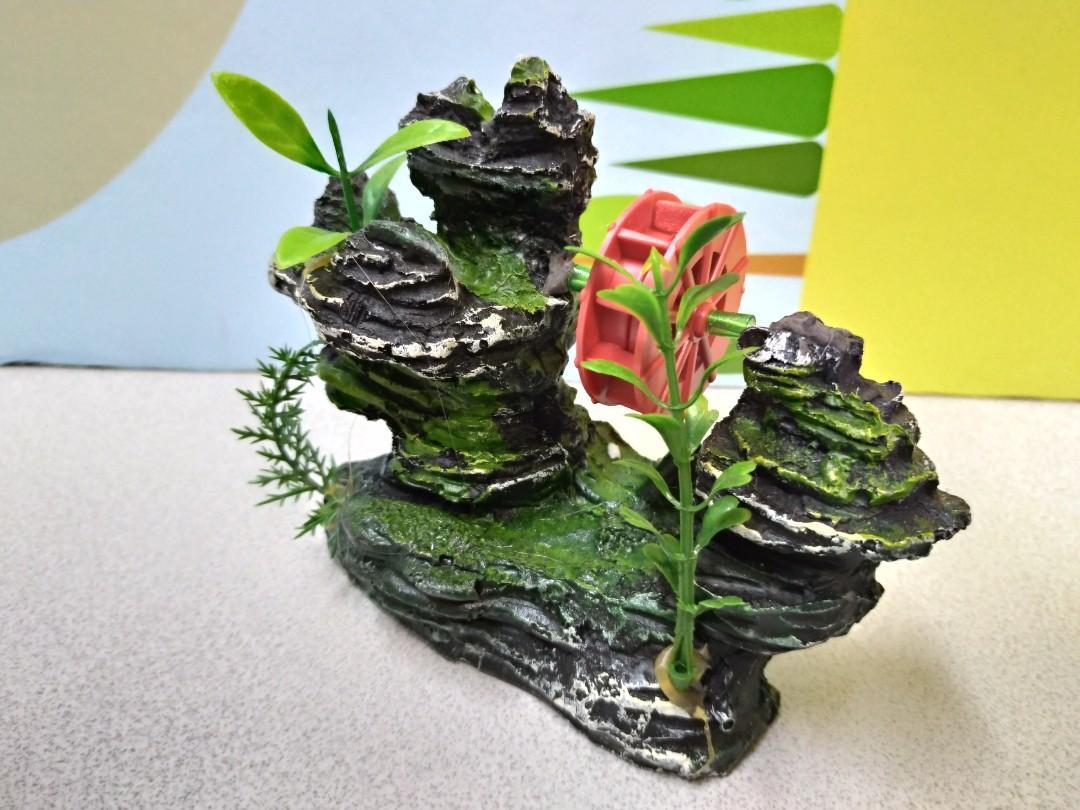 Aquarium pet hill stone ornament display 水族 魚缸 山石 擺設