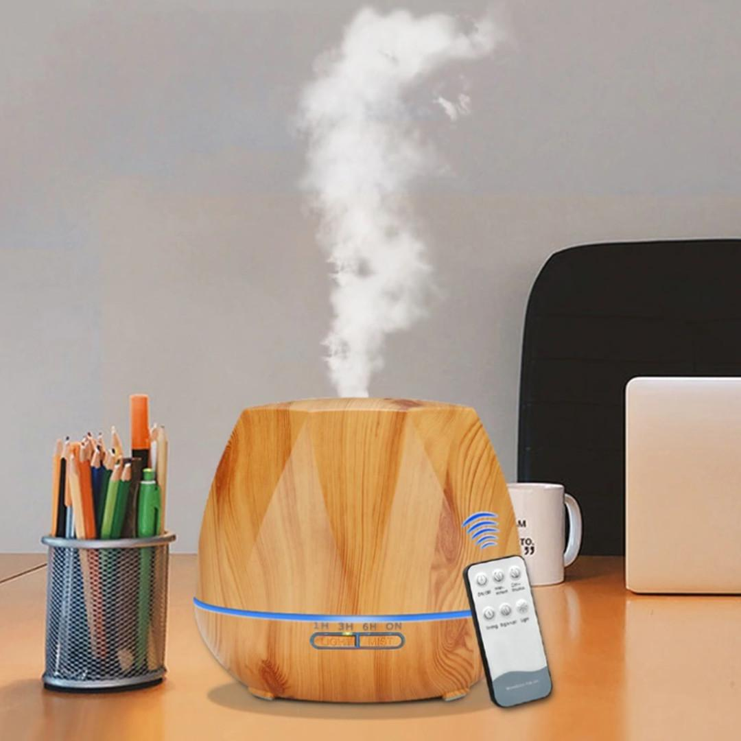Aroma Diffuser Essential Oil with Remote Control and LED Light 500ml (Herolia)