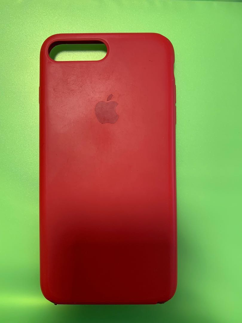 newest b489d a9d9c Authentic Apple iPhone 7/8 Plus Silicone Case - Red