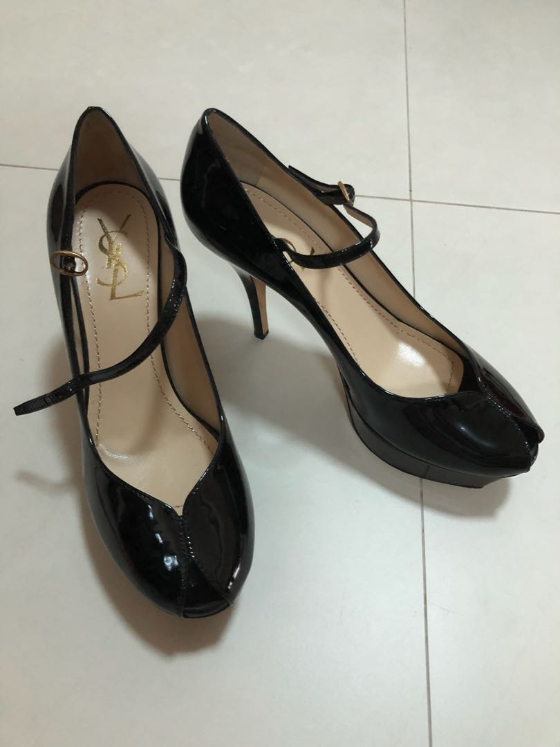 70acfd37b4b6 Authentic YSL Tribute pumps in Black platform Patent leather ...
