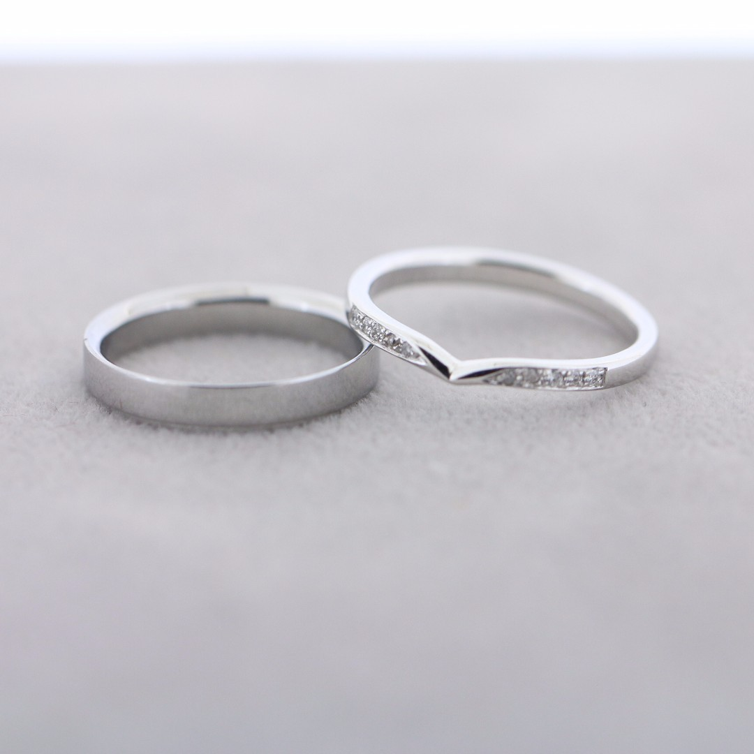 Autium Wavo Wedding Bands Anniversary Ring Couple Ring In 925 Silver 18k White Gold Rose Gold Yellow Gold 2017 70 Women S Fashion Jewellery Rings On Carousell