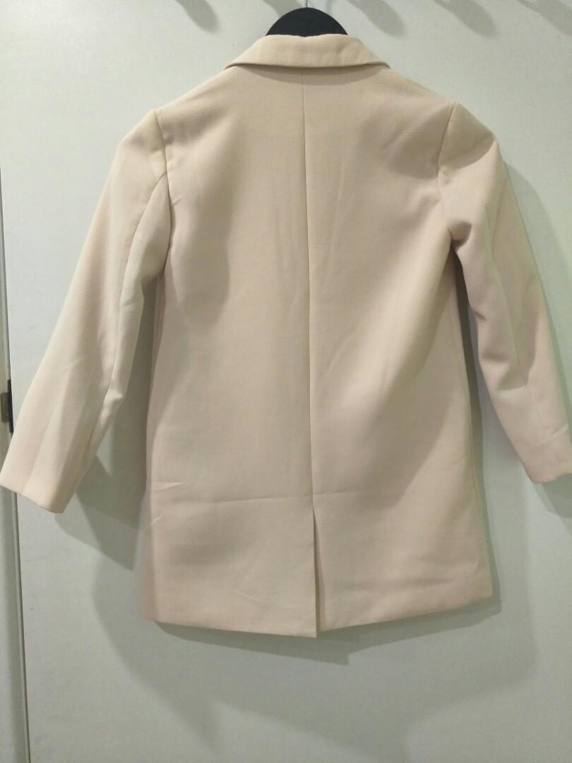 Bardot Junior dress Light pink w/ Belt and Coat (size: small 6)