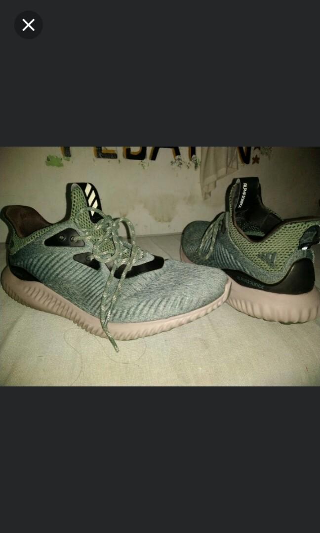 1ccd0ae3d4ec2 BB9042)Adidas ALPHABOUNCE EM POISON LVY  ARMY GREEN GREY MEN ...