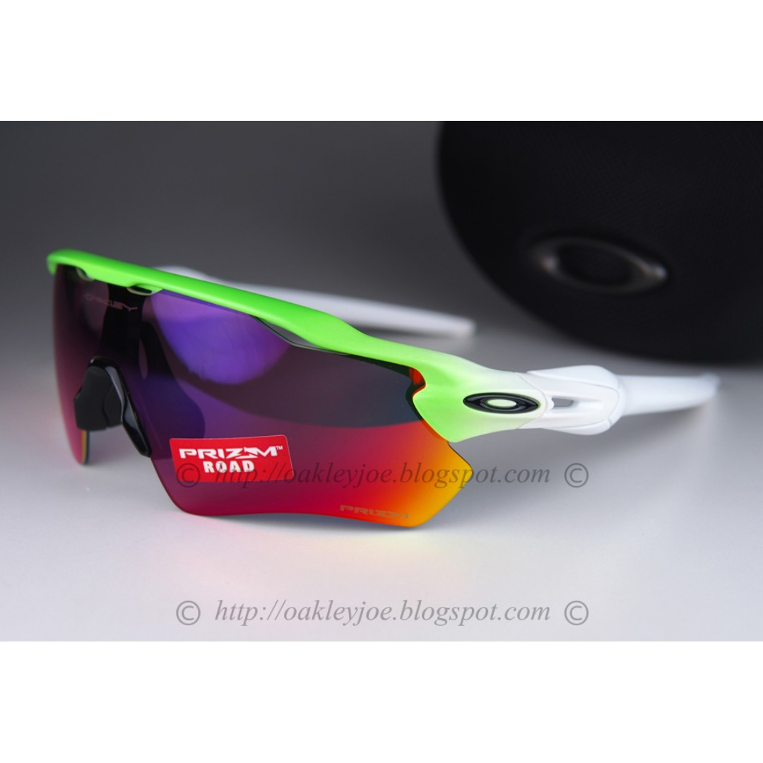 57c186fa569 BNIB Oakley Radar EV Path Asian Fit fade green + road prizm iridium ...