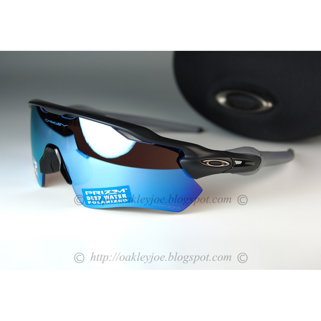 e7f9f16d4c BNIB Oakley Radar EV Path matte black + deep water prizm polarized ...