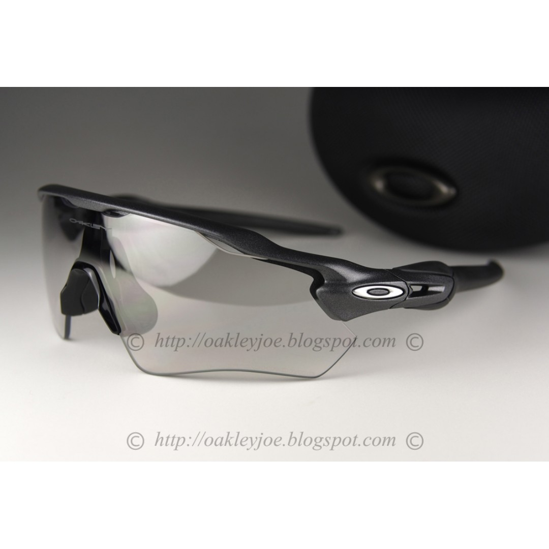 03e3b053fc BNIB Oakley Radar EV Path steel + clear photochromic iridium OO9208-13  sunglass shades