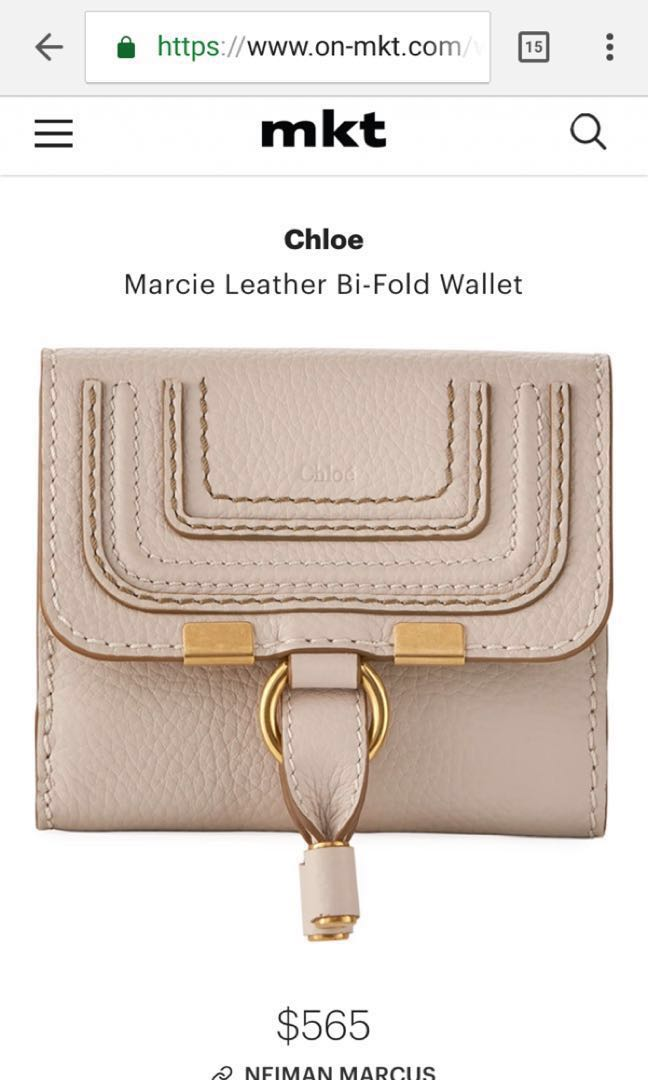 71417c31502 BNWT Authentic Chloe Marcie Bi-fold Wallet, Women's Fashion, Bags ...