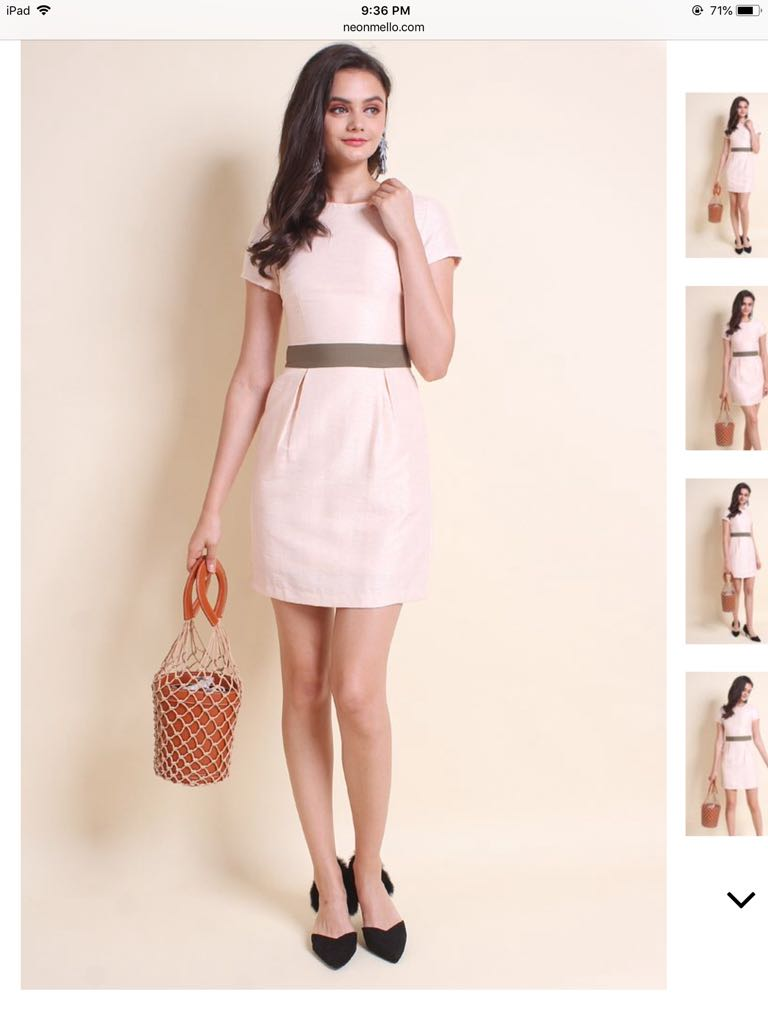 72e2f8ac32386 BNWT Neonmello Middleton Work Dress Blush Pink, Women's Fashion ...