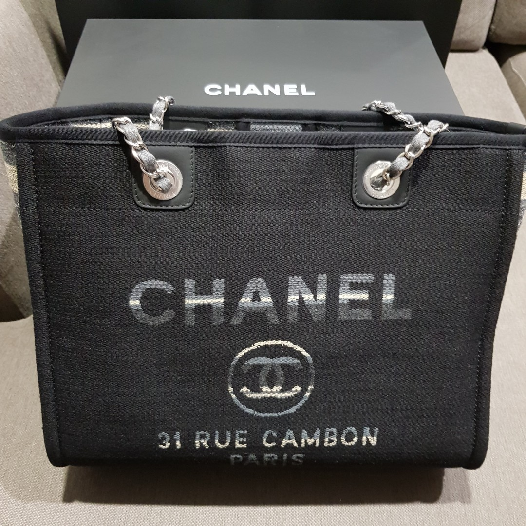 644e3ab36dc7d8 Chanel Deauville Tote (Authentic), Women's Fashion, Bags & Wallets ...