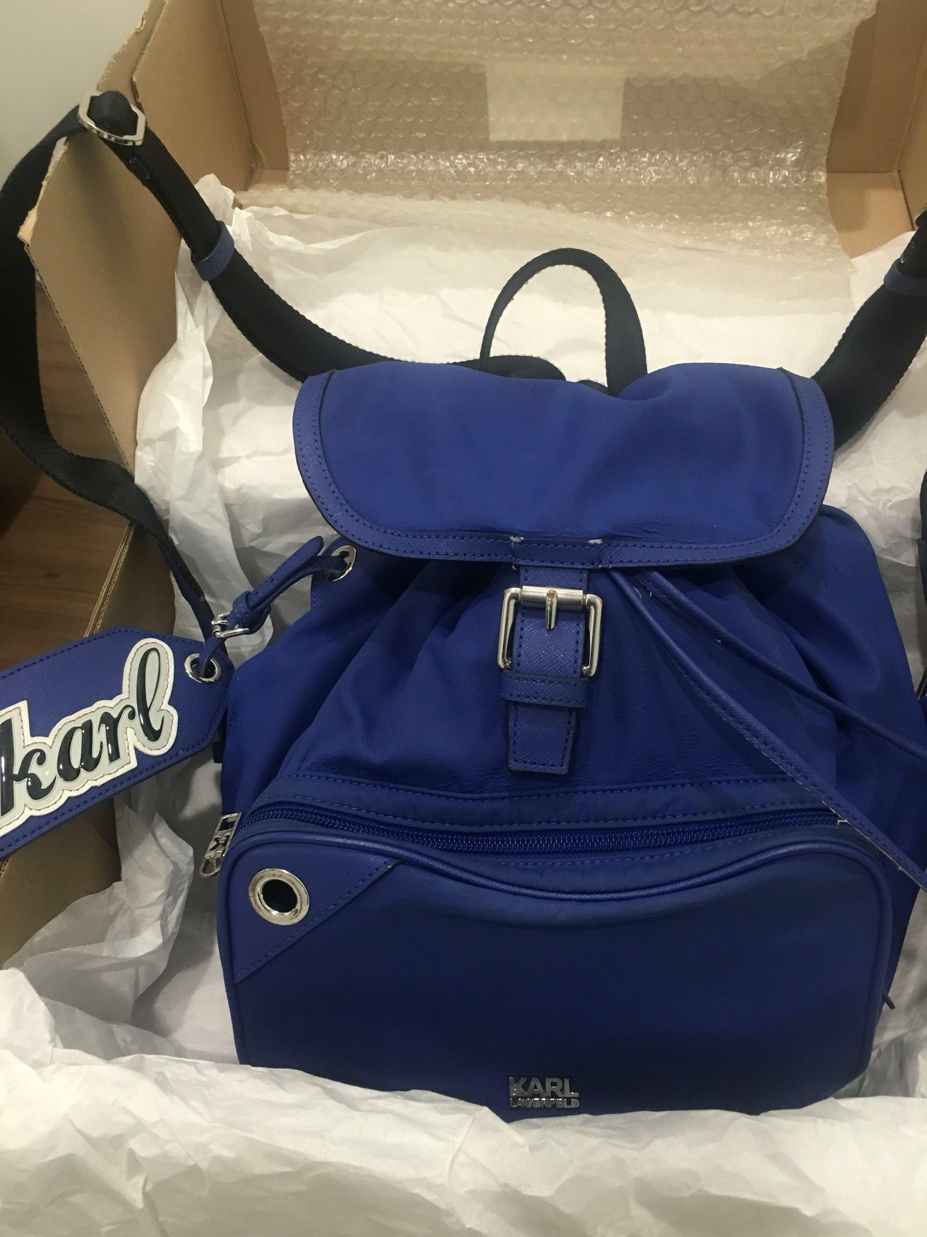 be4b9fcb06886f Chanel Designer Karl Lagerfeld Backpack Womens Fashion Bags