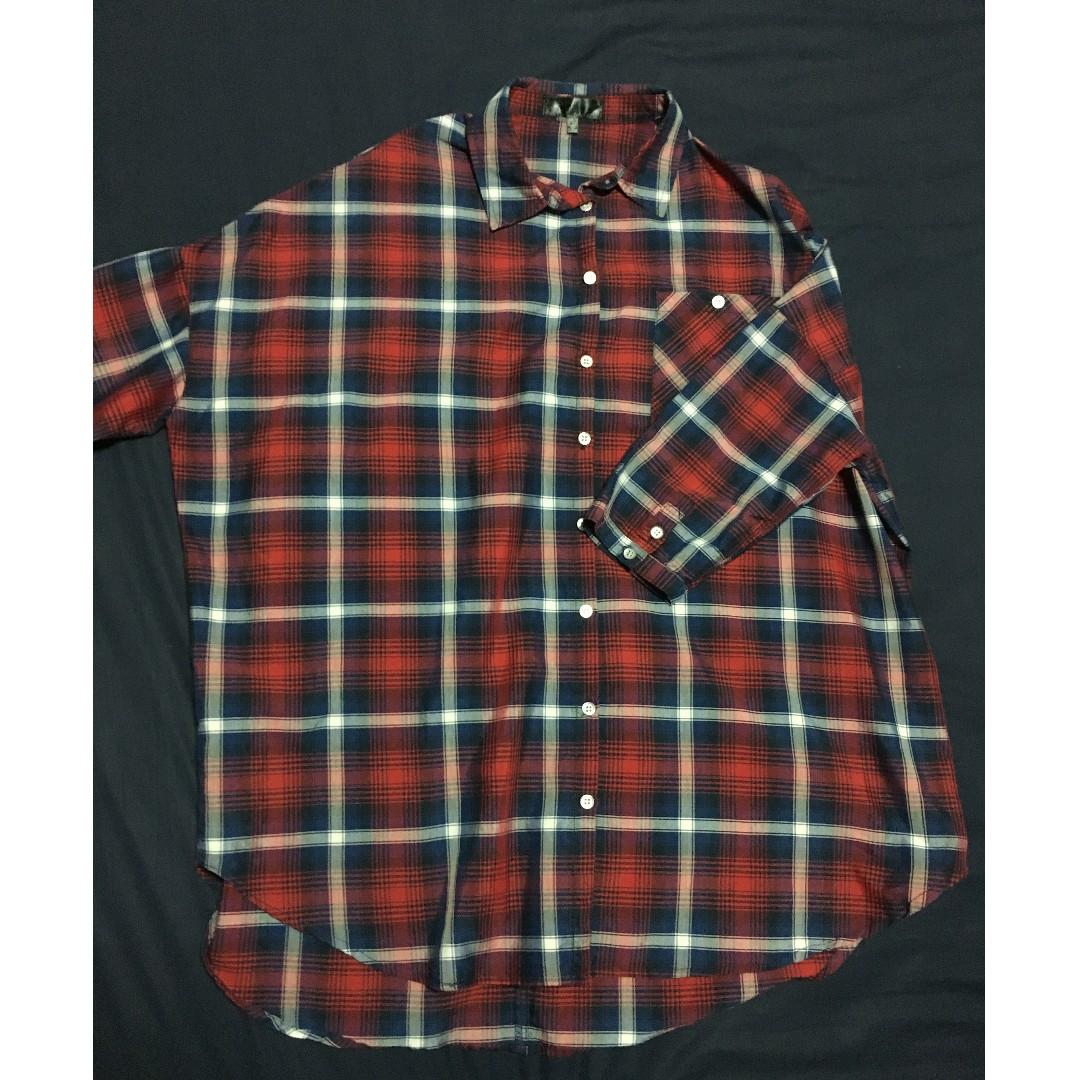 2de93bf152e COTTONON Red & Blue Checkered Shirt