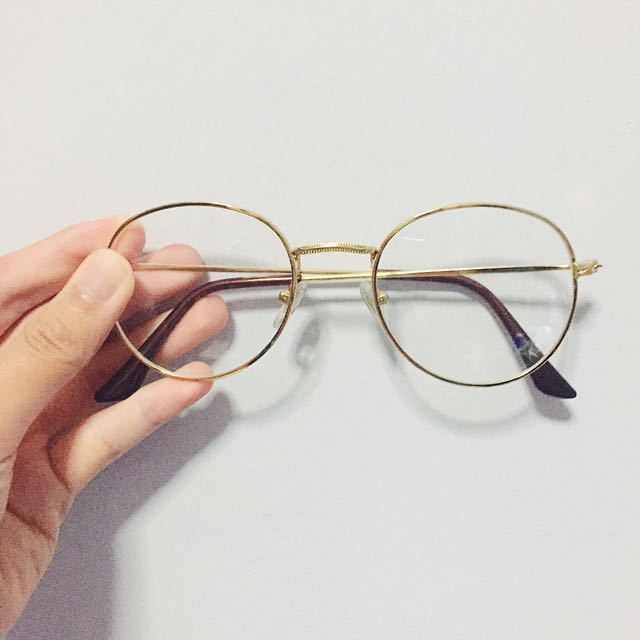 587d79cd206 (Free mail) Korean hipster big round spectacles