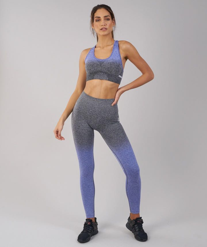 a896f9c36782b8 Gymshark Ombre Seamless Leggings - Indigo/Black (S size), Sports ...