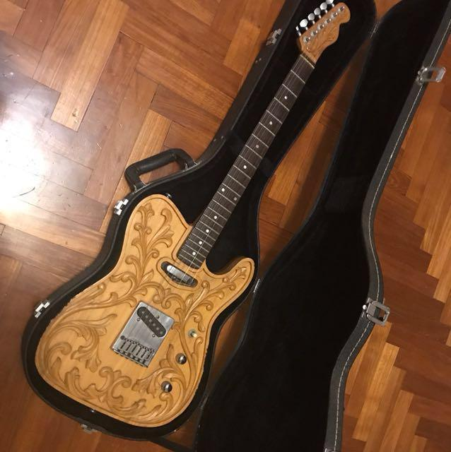 Hand carved Telecaster electric guitar, Music & Media, Music