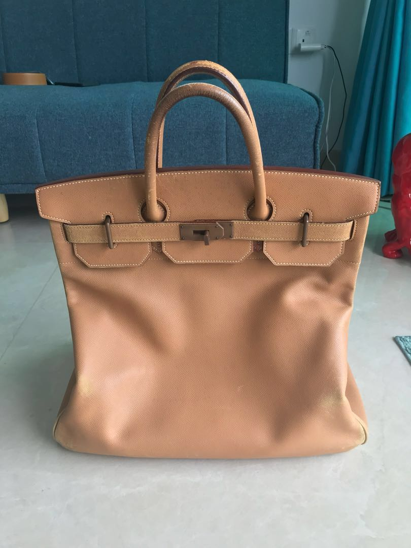 Hermes Birkin HAC 40 Gold Veau Courchevel leather with Brass ... 0c7adf0ddb32a