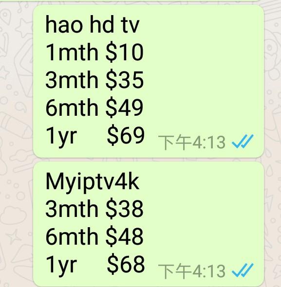 IPTV yearly subscription MYIPTV APK MYIPTV account for SG MY - Price