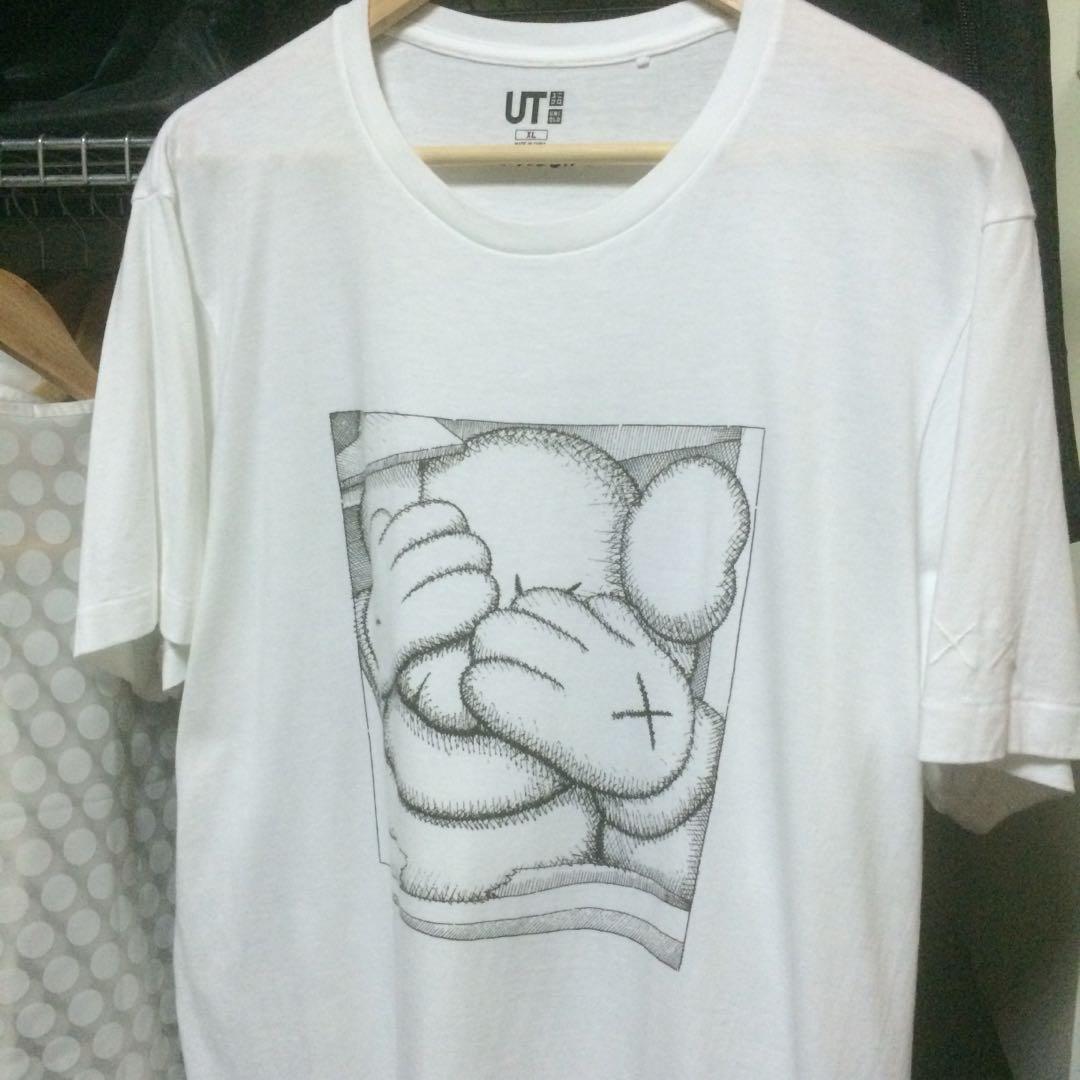 8b5ecd7c KAWS X Uniqlo T-Shirt XL, Men's Fashion, Clothes, Tops on Carousell
