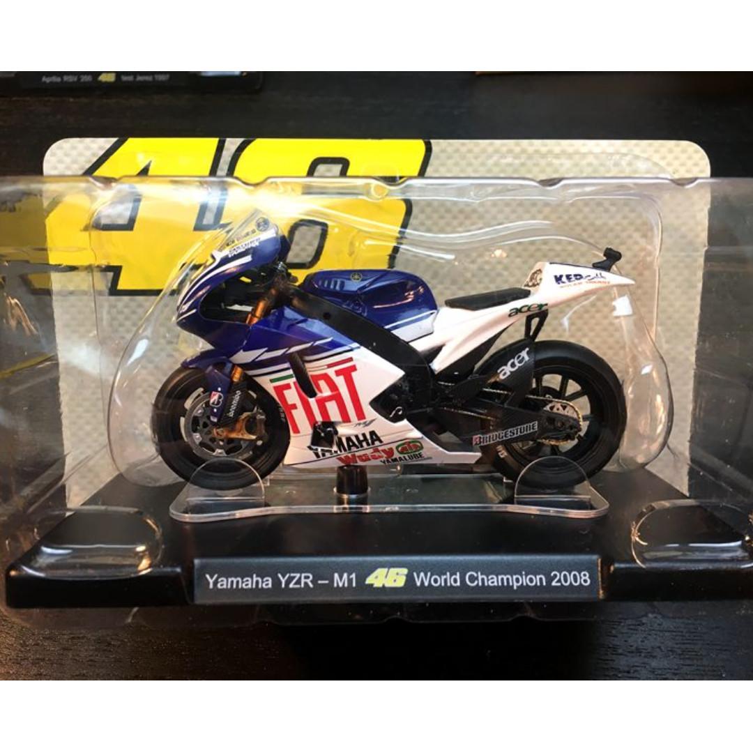 Leo 1:18 2008 Yamaha World Championship Rossi #46 MotoGP Diecast Motor Model, Mainan & Game, undefined di Carousell
