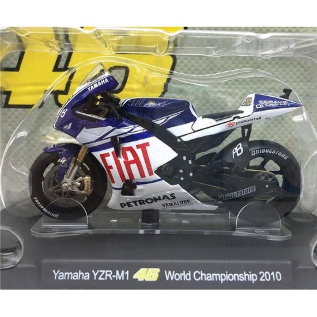 Leo 1:18 2010 Yamaha World Championship Rossi #46 MotoGP Diecast Motor Model, Mainan & Game, undefined di Carousell