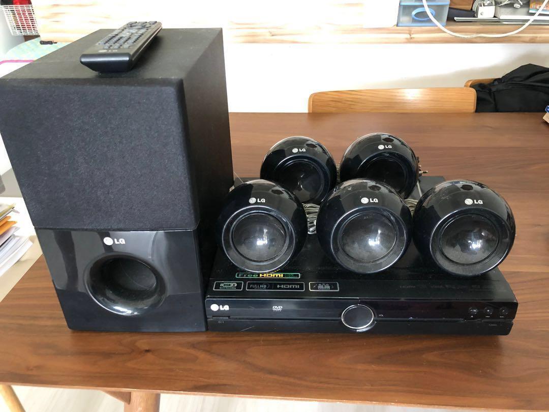 LG HT304-AM Surround sound system, Electronics, Audio on