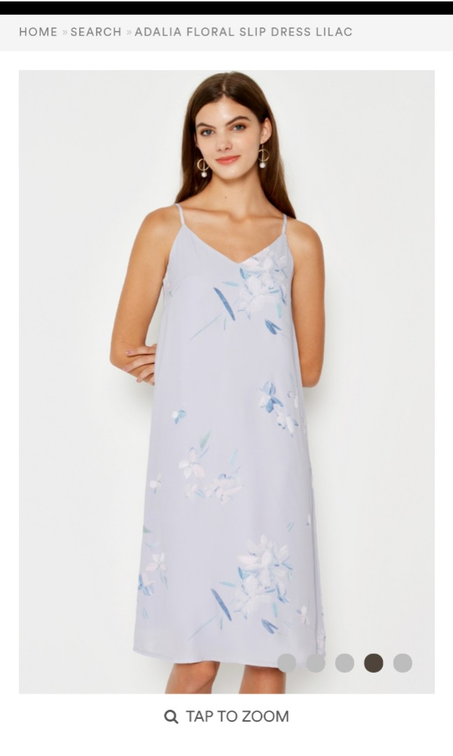 b515906cf86a LOVEANDBRAVERY ADALIA FLORAL SLIP DRESS LILAC (M), Women's Fashion ...