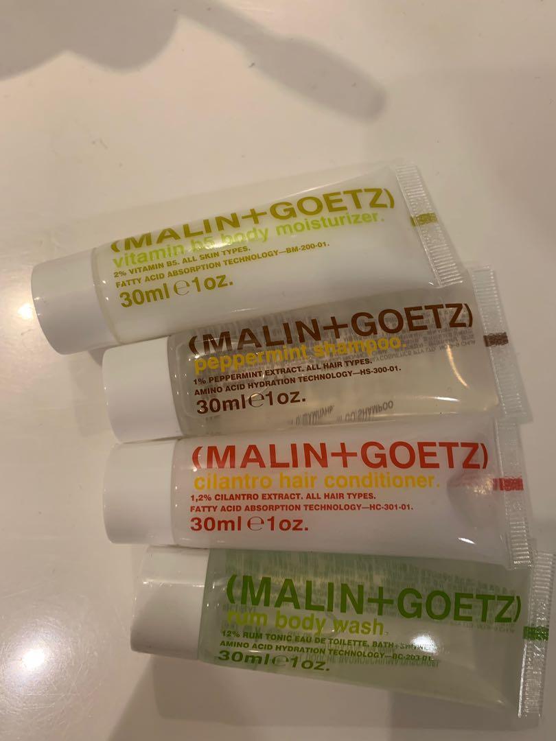 Malin+Goetz travel toiletries set