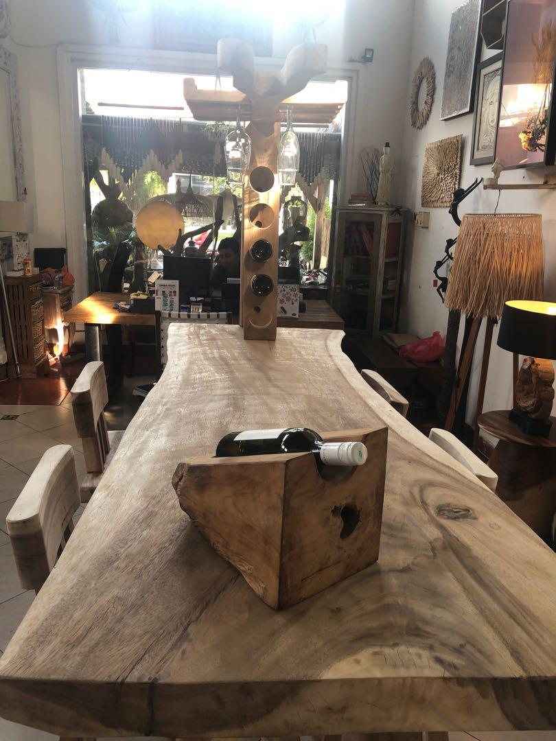 Meja Bar Kayu Suar