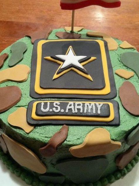 Military, Camo, Army Birthday Cake Themed Cake, Food & Drinks, Baked ...