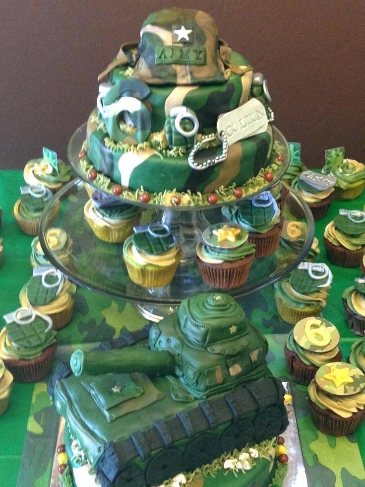 Superb Military Camo Army Birthday Cake Themed Cake Food Drinks Personalised Birthday Cards Paralily Jamesorg