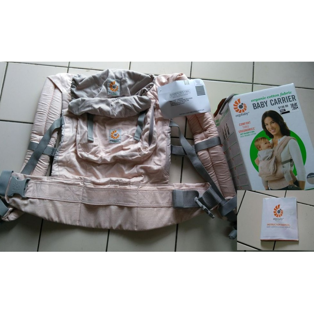 a5e6e5da1b3 NEW IN BOX)Authentic Ergobaby Original Organic Cotton Rose Harmony 3 ...