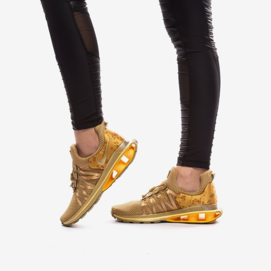 best sneakers c4f1a a9d06 Nike Shox Gravity Gold Women shoes authentic, Women s Fashion, Shoes ...