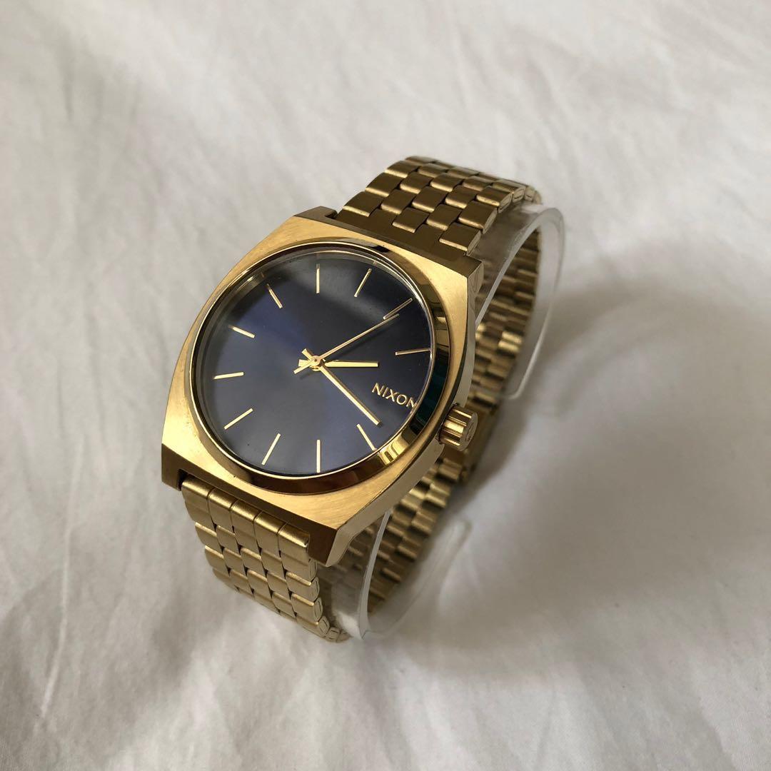 ab3a2d4a61b2c Nixon Minimal The Time Teller 37mm Gold Cobalt Watch