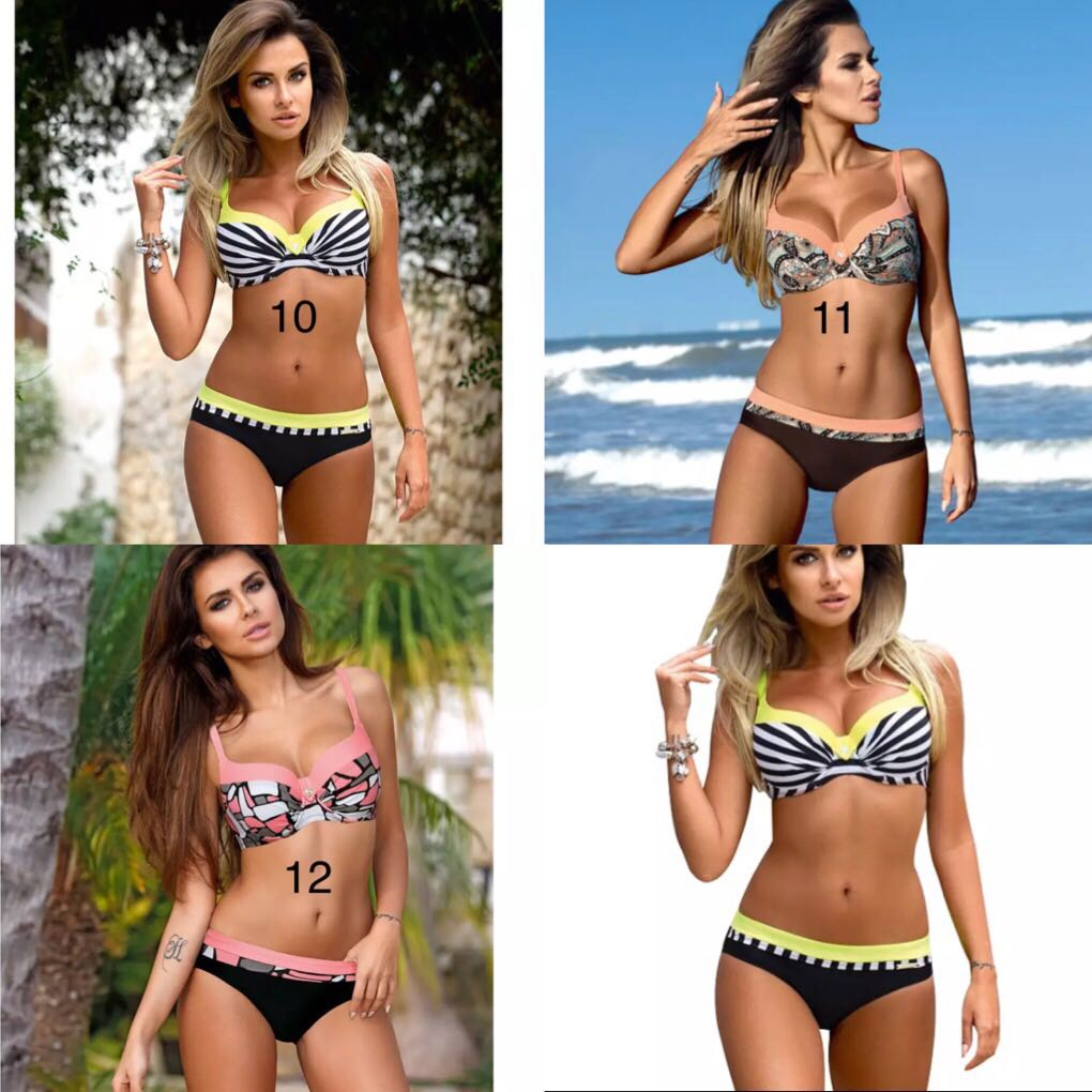 2b10a28628 (PO) M-XXXL 2018 Sexy Push Up Bikini Women Swimsuit Plus Size Swimwear  Print Patchwork Bikini, Women's Fashion, Clothes, Others on Carousell