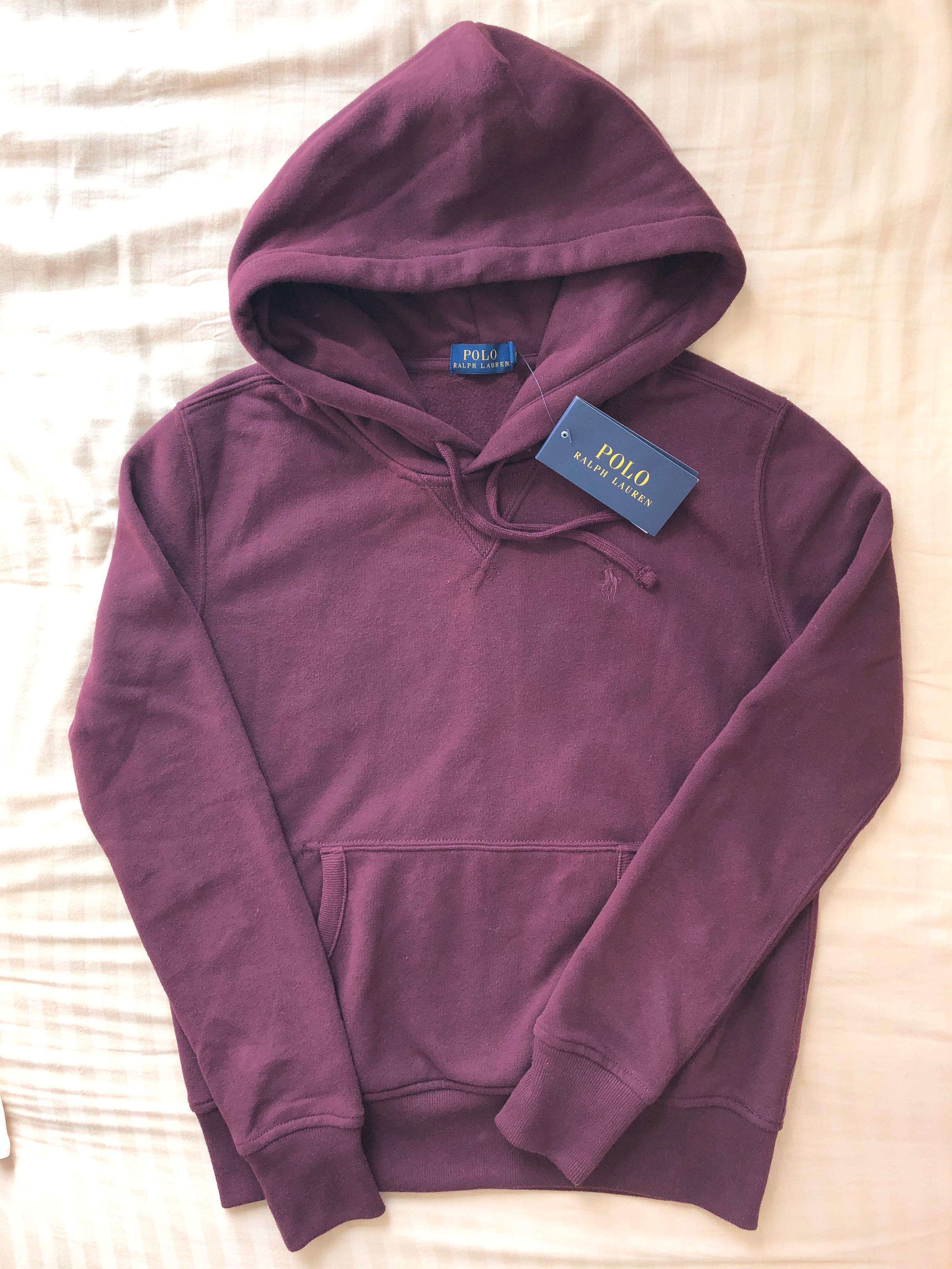 134a8ff0 Polo ralph lauren hoodie pullover burgundy 衛衣