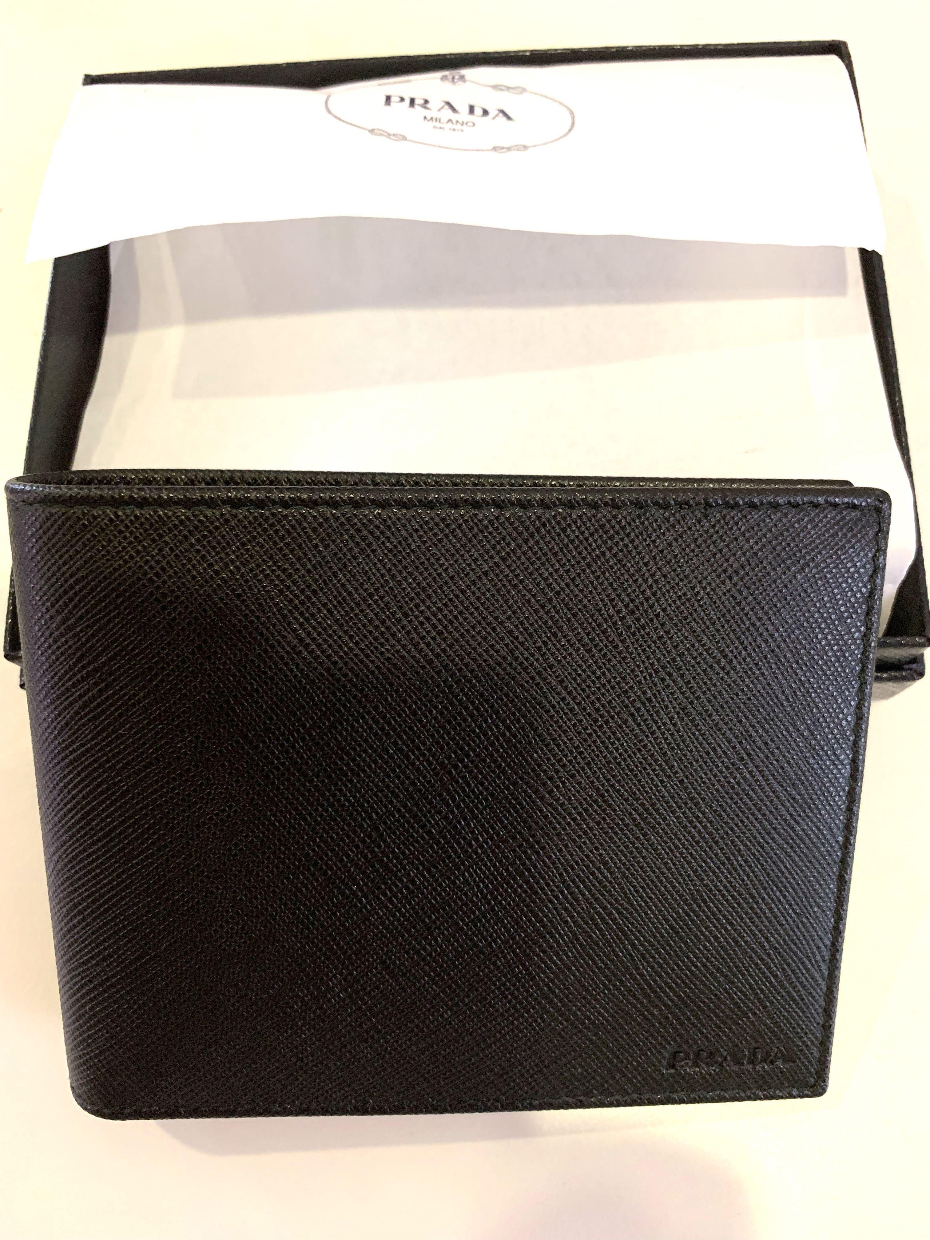 a2031d7e2a70 Prada new in box men wallet black, Men's Fashion, Bags & Wallets ...