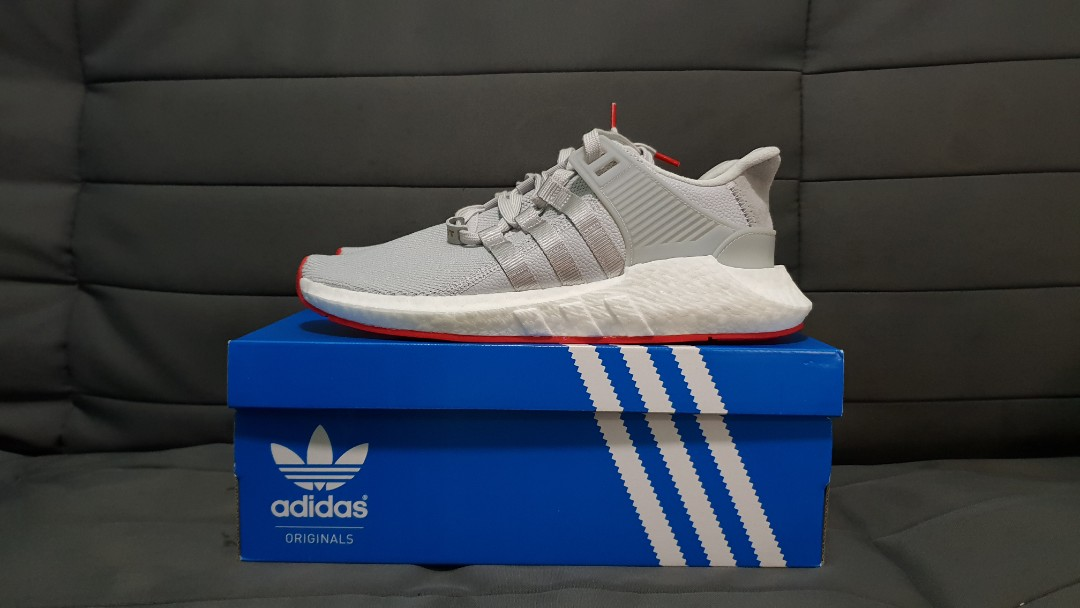 new style 37f27 92c20 PRE-CHRISTMAS SALE US9.5 Adidas EQT Support 9317 Boost Wolf GreyCarpet  Red, Mens Fashion, Footwear, Sneakers on Carousell