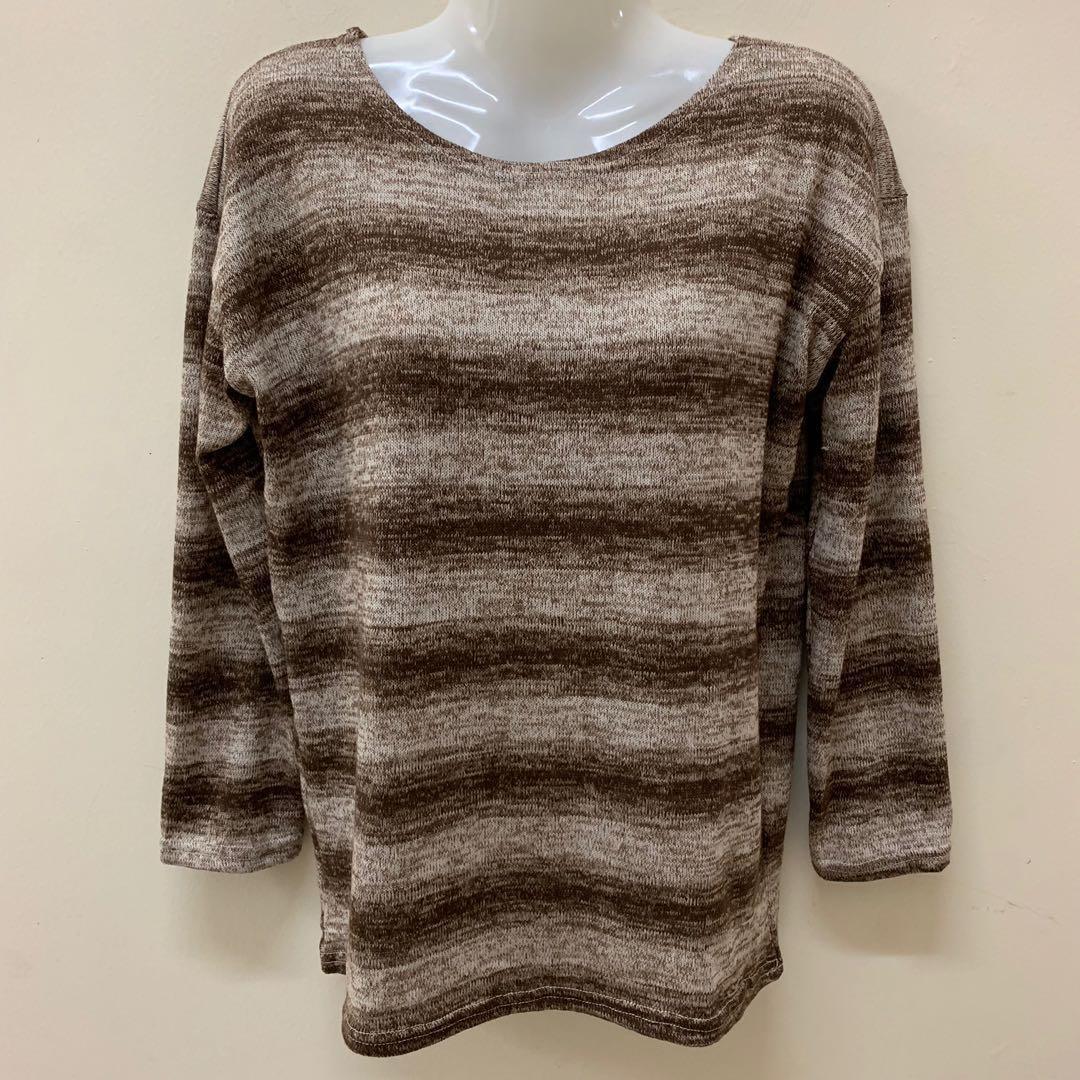 Preloved Long Sleeve Stripe Tshirt