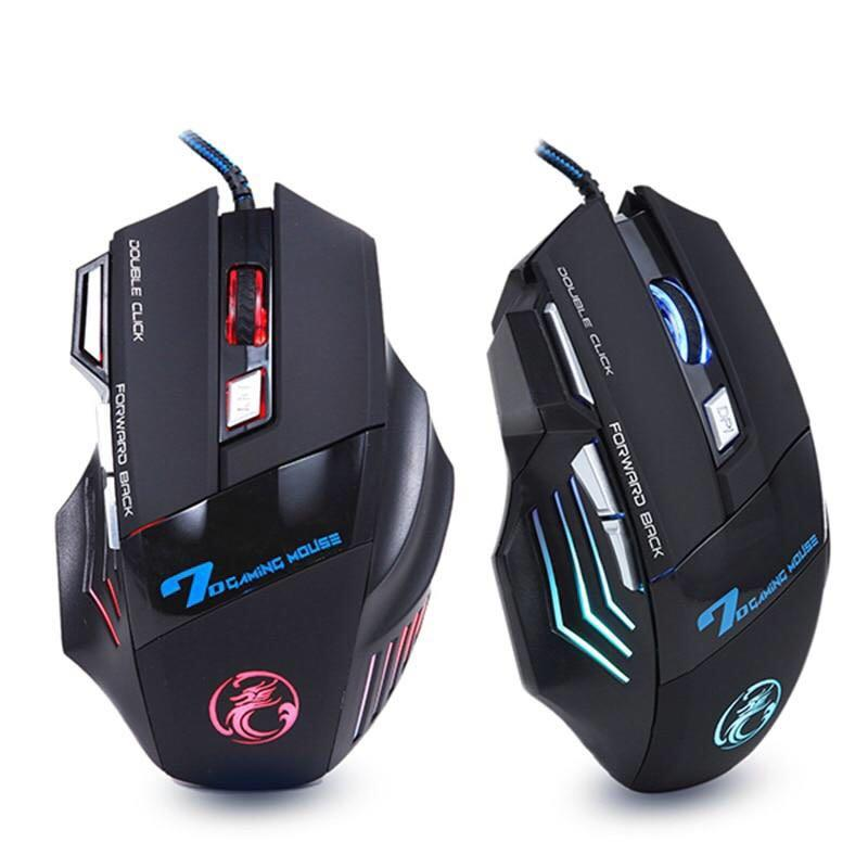 Professional Wired Gaming Mouse 5500 DPI Adjustable 7 Buttons