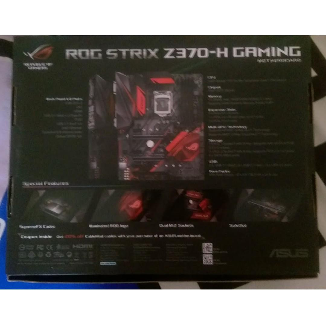 ROG STRIX Z370-H GAMING MOTHERBOARD