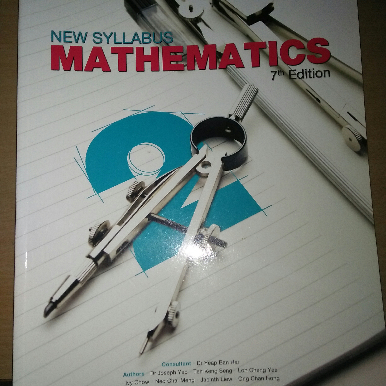 Sec 2 math textbook