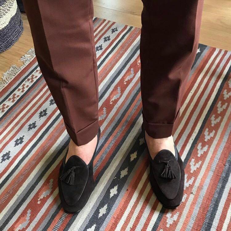 Suede Belgian Loafers, Men's Fashion