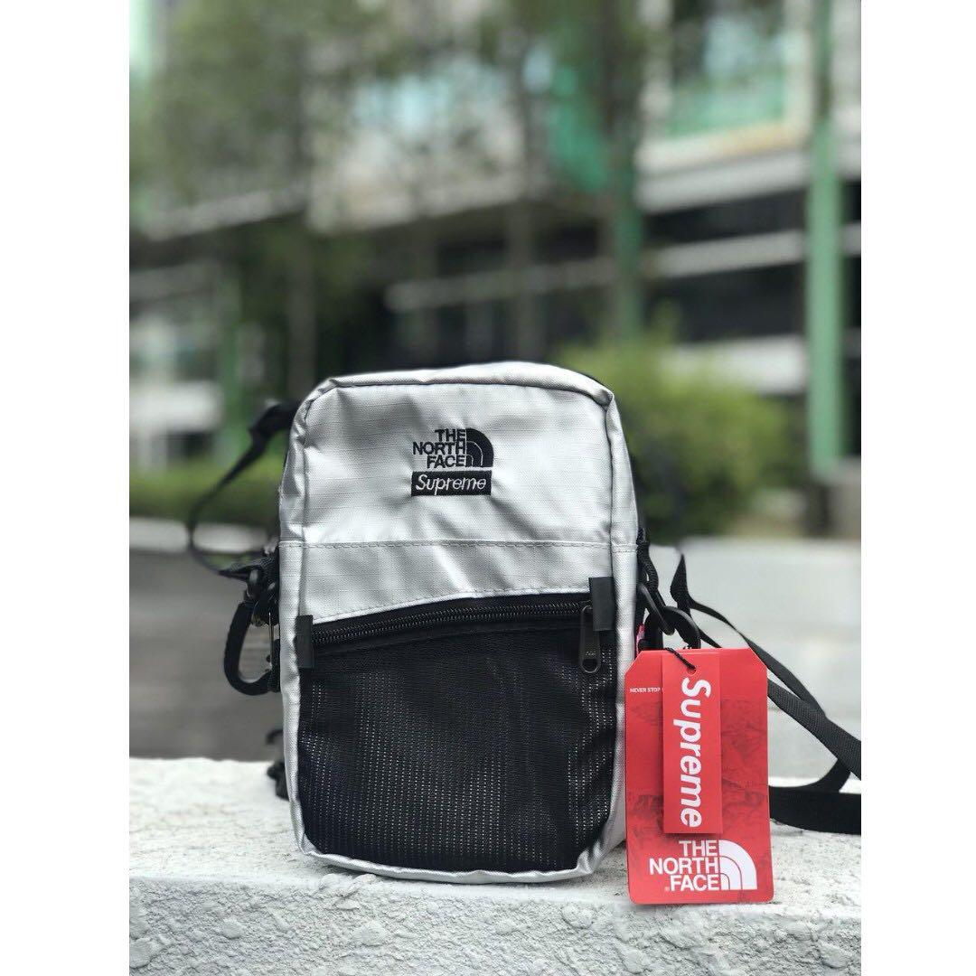 ca28101fd Supreme x The North Face Sling Bag Silver, Men's Fashion, Bags ...
