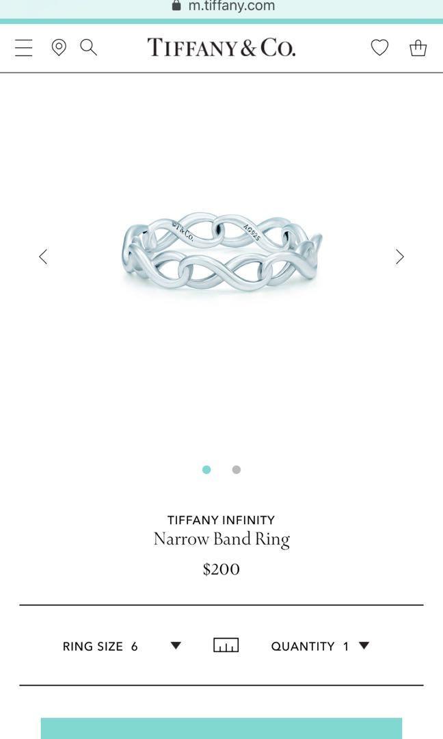 Tiffany&Co Infinity Ring