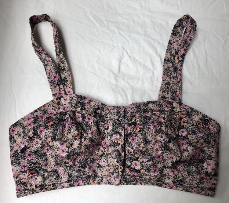 Topshop Ditsy Floral Button Bralette - UK/AUS 6 EUR34