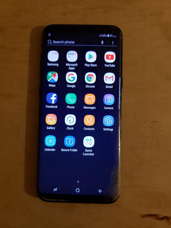 Unlocked Samsung S8+, 64BG, Dual Sim